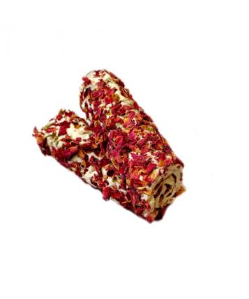 Рахат-лукум Рулет миндаль в лепестках роз
